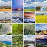 Landscape collection of Taiwan Royalty Free Stock Image