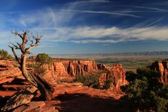 Landscape of Colorado National Monument - USA Royalty Free Stock Images