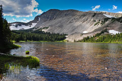 Landscape of Colorado ,USA. Mountains with snow above a trees and a lake in Colorado ,USA Royalty Free Stock Photo