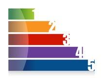 Landscape colorful number graph illustration. Design over white Royalty Free Stock Images