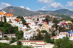 Landscape of colorful town- Guanajuato in Mexico Royalty Free Stock Photo