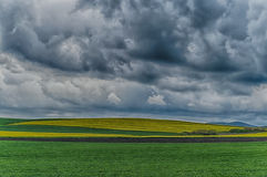 Summer landscape with stormy clouds royalty free stock photo