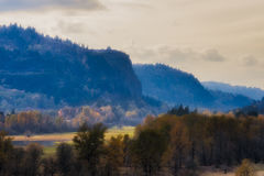 Landscape of Columbia River Gorge. Early morning fall landscape of a section of the Columbia River Gorge from the Historical Columbia River Highway stock images