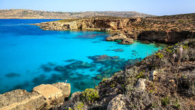 Landscape at Comino - Maltas little sister. Malta, officially known as the Republic of Malta, is a Southern European island country consisting of an archipelago Stock Images