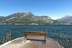 Landscape on the Como Lake from Bellagio Royalty Free Stock Photo
