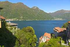 Landscape on the Como Lake Royalty Free Stock Photography