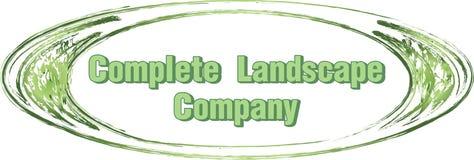 Landscape company logo design circle brand emblem label lawn mowing care maintenance Stock Photography