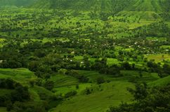 Dramatic Satara village landscape-7 Stock Images
