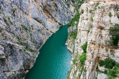 Landscape in Congost de Mont-rebei ,  Spain Royalty Free Stock Photography