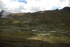 Landscape in Cordiliera Huayhuash Stock Image