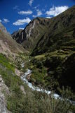 Landscape in Cordiliera Huayhuash Royalty Free Stock Photos