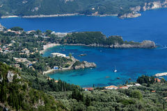 Landscape in Corfu, Greece Royalty Free Stock Images