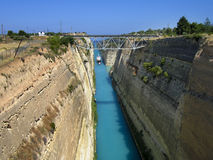 Landscape of the Corinth Canal Stock Photography