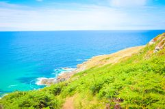 Landscape in Cornwall, England stock images