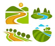 Free Landscape Corporate Identity Isolated Icons Nature And Countryside Stock Photos - 144897143