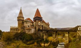 Landscape with the Corvin Castle Royalty Free Stock Image