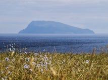 Landscape with Corvo Island on the horizon