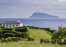 Landscape with Corvo Island and Ponta Delgada