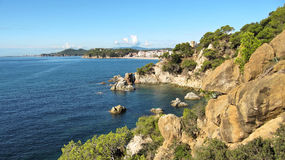 Landscape of the Costa Brava near Lloret de Mar, Spain Stock Photo