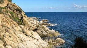 Landscape of the Costa Brava near Lloret de Mar, Spain Royalty Free Stock Images