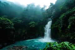 Rio Celeste. Landscape of Costa Rica, Rio Celeste royalty free stock photos