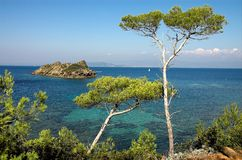 Landscape from the Cote dAzur. France Stock Image