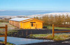 Landscape and cottage in iceland Royalty Free Stock Image