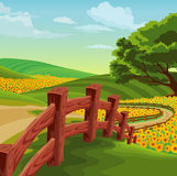 Landscape country scene Stock Photography