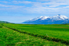 Landscape and countryside along the Eyjafjordur Royalty Free Stock Photography