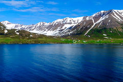 Landscape and countryside along the Eyjafjordur Royalty Free Stock Photos