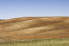 Landscape of a countryside farm field Stock Photo