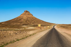 Landscape in the countryside of Maroc. Roads and mountains in the countryside of Maroc, North Africa Stock Photos