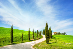 Landscape of countryside in Val d'Orcia province.Tuscany, Italy. Stock Image