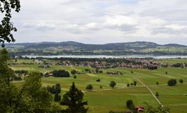 Landscape of the coutryside of Munich, Germany stock images