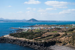 Landscape of Cow Island in Jeju Island, South Korea Royalty Free Stock Photography