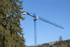 Landscape with crane Stock Image