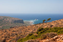 Landscape in Crete Stock Image