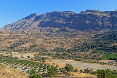 Landscape from Crete island in Greece Stock Photo