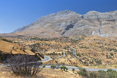 Landscape from Crete island in Greece Stock Image