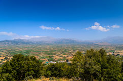 Landscape of Crete island at Lassithi district. Royalty Free Stock Photo