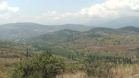 Landscape in the Crimea stock video footage