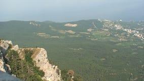 Landscape in the Crimea stock video