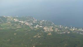 Landscape in the Crimea stock footage