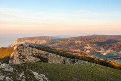 Landscape in Crimea mountains Stock Images