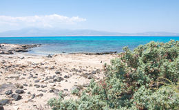 Landscape of Crisi, most beautiful Greek island, Crete Stock Photos