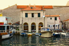 The landscape of Croatia. A part of the city in Croatia Royalty Free Stock Image