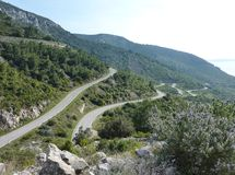 Landscape on the Croatian isle Vis Royalty Free Stock Photos