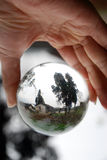 Landscape in crystal Ball Royalty Free Stock Images