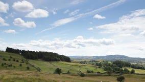 Landscape in Cumbria, UK stock video footage