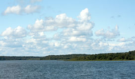 Landscape cumulous cloud on lake. Emotion of water Stock Photography